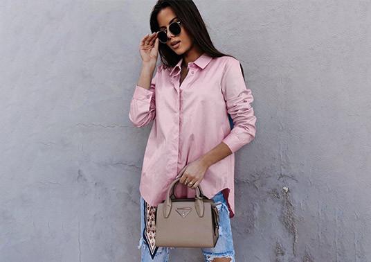 Ροζ γυναικείο πουκάμισο από τη συλλογή της Amelies