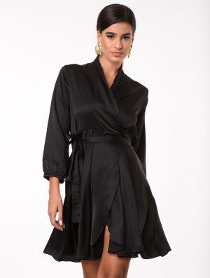 Μαύρο κρουαζέ φόρεμα από την κολεξιόν της Amelies