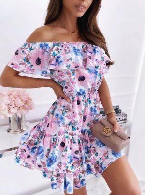 Φλοράλ Καλοκαιρινό Φόρεμα Με Βολάν
