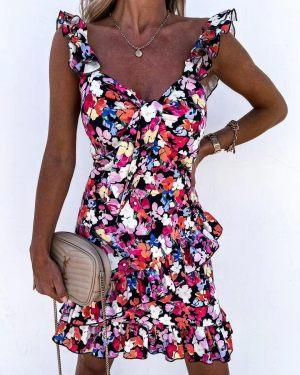 Μίνι Φλοράλ Καλοκαιρινό Φόρεμα