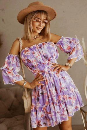 Στράπλες Φλοράλ Καλοκαιρινό Φόρεμα