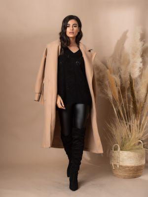 Καμηλό γυναικείο παλτό από τη συλλογή της Amelies