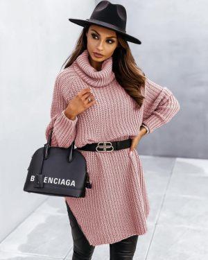 Ροζ γυναικεία πλεκτή μπλούζα από τη συλλογή της Amelies