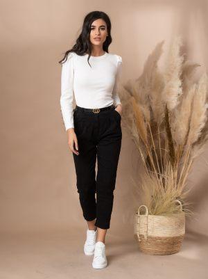 Μαύρο υφασμάτινο γυναικείο παντελόνι από τη συλλογή της Amelies