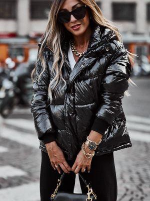Μαύρο γυναικείο χειμωνιάτικο μπουφάν από τη συλλογή της Amelies