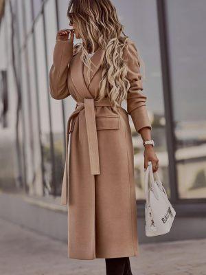 Γυναικείο παλτό καμηλό από την κολεξιόν της Amelies