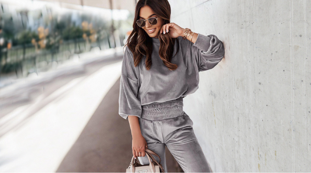 Gray clothing set for women from the collection of Αmelies