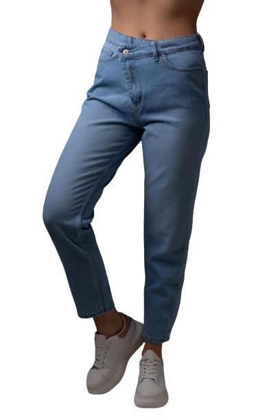 Jean παντελόνι με πλάγιο κουμπί