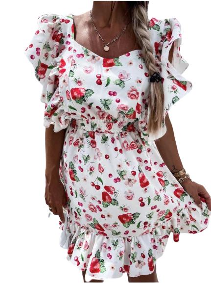 Φόρεμα Tulip Λευκό