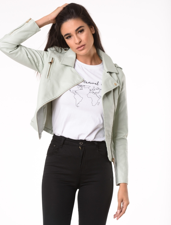 Faux Leather Jacket Elli Βεραμάν